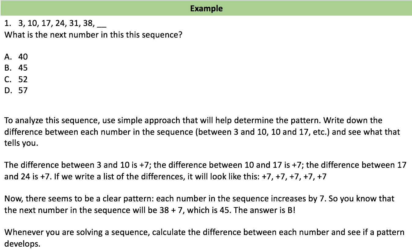 sequences example